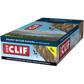 CLIF Bar Caja Barritas Energéticas 12 x 68g, Banana/Dark Chocolate